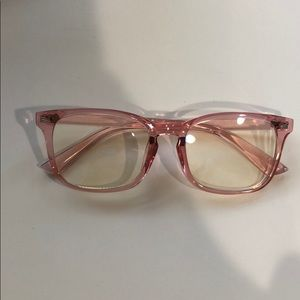 Accessories - Pink frame blue light glasses